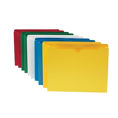 Staples® Colored File Jackets, Letter, 1 1/2