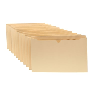 Staples® 100% Recycled File Jackets, Legal, 2