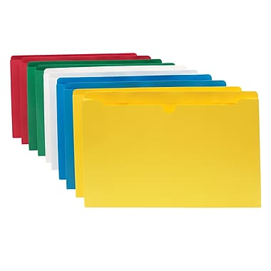 Staples File Jacket, Legal, Assorted, 10/Pack (3045DT10-ASST)