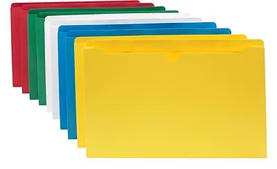 Staples File Jacket, Legal, Assorted, 10/Pack (3045DT10-ASST)