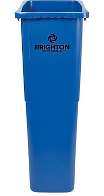 Brighton Professional Slim Wastebasket, Blue, 23 Gallon