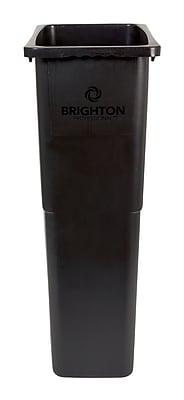 Brighton Professional Slim Wastebasket, Black, 23 Gallon