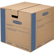 "Bankers Box® SmoothMove Prime Moving Box, FastFold, Medium, 18""W x 18""D x 16""H, 8/Pack (62801)"