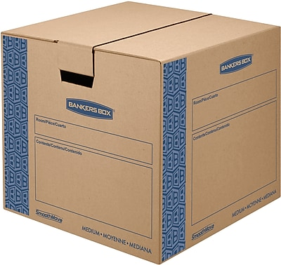 Bankers Box® Moving Boxes, SmoothMove™, Medium, 18