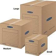 "Bankers Box® SmoothMove™ Basic Moving & Storage Boxes, 18-1/4"" x 18-1/4"" x 16-7/8"", Kraft, 20/Carton (7713901)"