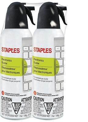 Staples Electronics Duster, 7 oz., 2 pack(SPL07ENFR-2)