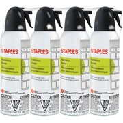 Staples Electronics Duster Compressed Air 7oz, 4-Pack