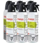 Staples Electronics Air Duster, Slight Ethereal, 6/Pack (SPL07ENFR-6)