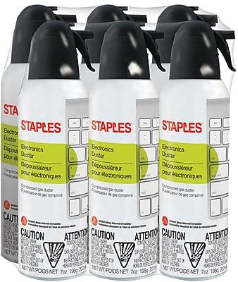 Staples Electronics Duster, 7 oz., 6 pack(SPL07ENFR-6)