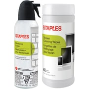 Staples Electronics Duster/Wipe Combo