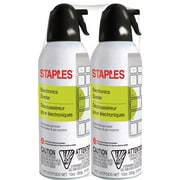 Staples Electronics Air Duster, Slight Ethereal, 2/Pack (SPL10ENFR-2)