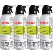 Staples Electronics Air Duster, Slight Ethereal, 4/Pack (SPL10ENFR-4)
