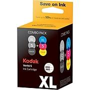 Kodak Verite 5XL Black/Color Ink Cartridge, High Yield, 2/Pack