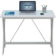 Techni Mobili Modern Matching Desk and Chair Set, White/Gray