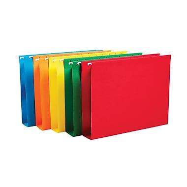 Staples® Reinforced Box-Bottom Hanging File Folders, Letter, 2