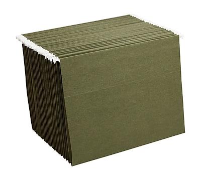 Staples® Hanging File Folders, Letter, Standard Green, 25/Box (521229)
