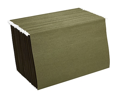 Staples® Hanging File Folders, Legal, Standard Green, 25/Box (521252)