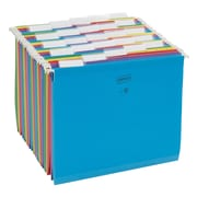 Staples® Colored Reinforced Hanging File Folders, 5-Tab, Letter, Assorted Colors, 25/Box (18654-US-CC)