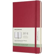 MOLESKINE 18M WEEKLY NOTEBOOK LARGE BERRY ROSE HC