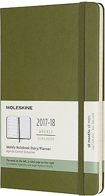 MOLESKINE 18M WEEKLY NOTEBOOK LARGE ELM GREEN HC