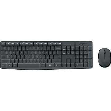 Logitech MK235 USB Wireless Optical Keyboard and Mouse Set, Black (920-007897)