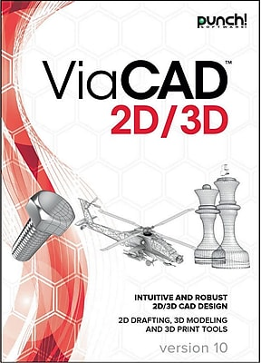 Encore Punch! ViaCAD 2D/3D v10 for Mac (1 User) [Download]