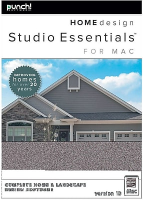 Encore Punch! Home Design Studio Essentials for Mac v19 (1 User) [Download]