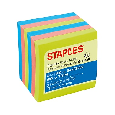Staples® Stickies™ Pop-up Notes, 3
