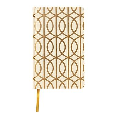 DwellStudio Fabric Journal, Gold Foil + Gate Pattern (45094)