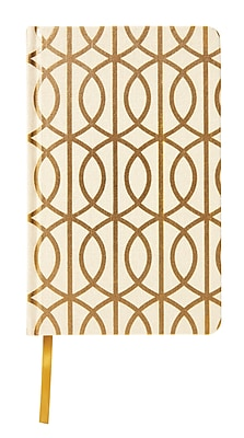 DwellStudio Fabric Journal, Gold Foil + Gate Pattern (45094)