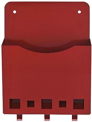 MMF Industries™ STEELMASTER® Mail & Key Holder, Red, 8 3/4