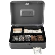 "MMF Industries™ STEELMASTER® Cash Slot Security Box, Gray, 3 3/16""H x 11 13/16""W x 9 7/16""D"