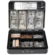 "MMF Industries™ STEELMASTER® Cash Box with Combination Lock, Gray, 3 3/16""H x 11 13/16""W x 9 7/16""D"