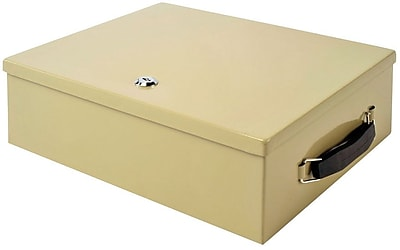 MMF Industries™ STEELMASTER® Fire-Retardant Security Chest, Sand, 4