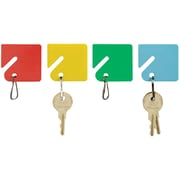 "MMF Industries™ STEELMASTER® Slotted Rack Key Tags, Assorted, 1 1/2""H x 1 5/8""W x 2 1/4""D"
