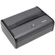 "MMF Industries™ STEELMASTER® Premier Security Case, Charcoal Gray, 4 1/8""H x 11 5/8""W x 8 1/2""D"