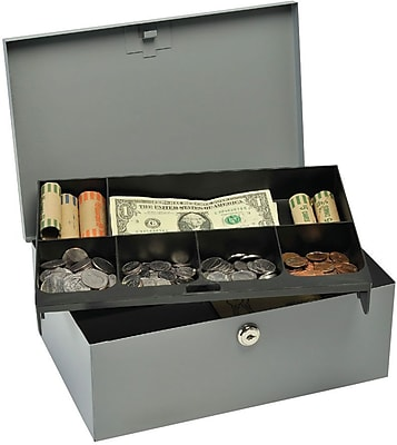MMF Industries Steel-Constructed Cash Boxes, w/Security Lock