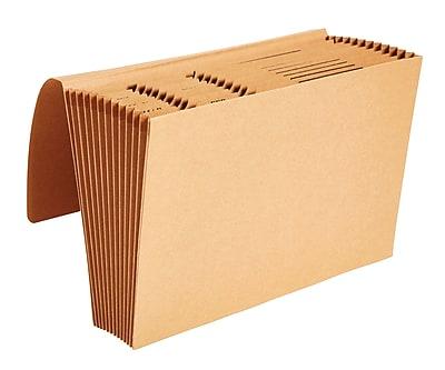 Staples® Kraft Expanding Files, Legal, Jan-Dec Index with Flap, Each
