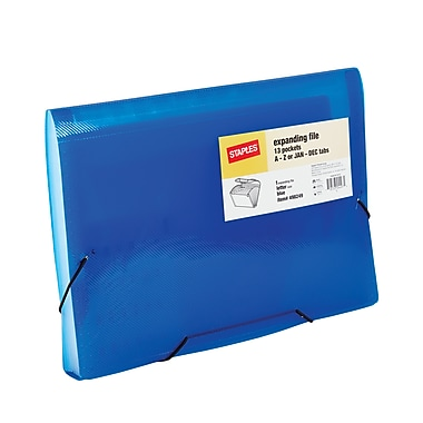 Staples Poly Colors™ Expanding Files, Letter, Blue, Each