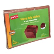 "Staples Rip-proof Heavy-Duty Wallet with Fully Lined Tyvek Gussets, 5 1/4"" Expansion, Legal Size, Brown (CL1076GHD2)"