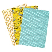 DwellStudio Assorted Pattern Notebooks, 8.5 x 6, 3 pack (45092)