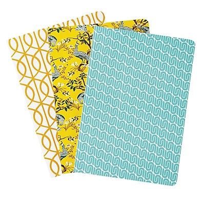 DwellStudio Assorted Pattern Notebooks, 8.5 x 6, 3 pack (45092)