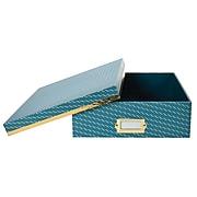 DwellStudio Vichy Pattern Desktop Storage Box, Blue (51117)