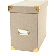 DwellStudio Linen File Box, Gate Interior (45144)