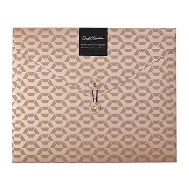 DwellStudio Callum Horizontal Envelope File Folder, Rose Gold (51161)