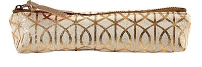 DwellStudio Small Accessories Linen Pouch, Gate Pattern (45039)