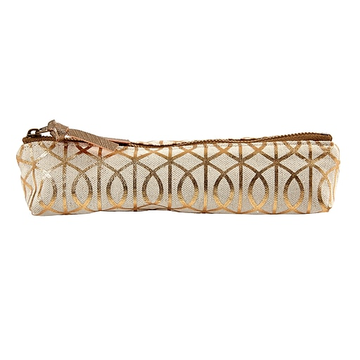 DwellStudio Small Accessories Linen Pouch, Gate Pattern (45039)