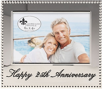 4x6 Happy 25th Anniversary Picture Frame