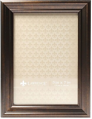 5x7 Classic Detailed Oil Rubbed Bronze Picture Frame