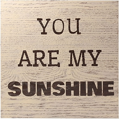 9x9 Oatmeal Wash Wood Grain Box Sign - My Sunshine